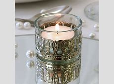 Glass Tealight Holder with Metal Decoration The Last Detail