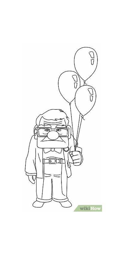 Disney Drawing Carl Draw Drawings Sketches Cartoon