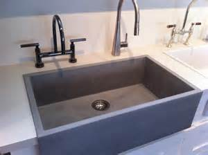 Concrete Farmhouse Sink Photo