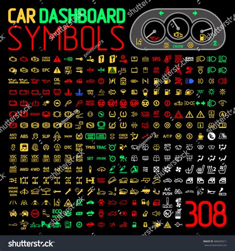 The volkswagen golf stop light is typically used alongside another dashboard symbol or message to signify an urgent message. Car Dashboard Panel Icons Symbols Warning Stock Vector ...