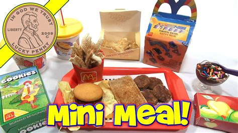 mcdonalds mini happy meal complete toy food maker youtube