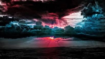 Sky Dark Colorful Cloud Filled Desktop