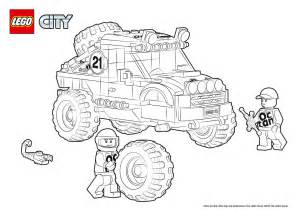 60115 4 X 4 Off Roader Colouring Page Lego City