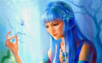 Fantasy Hair Digital Desktop Mobile Phones Woman