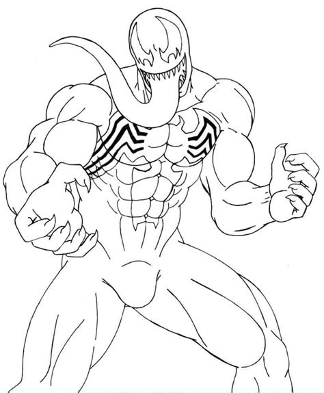 printable venom coloring pages scribblefun