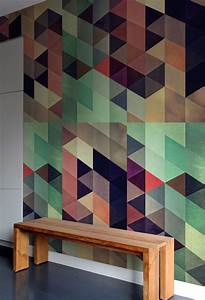 Generate a captivating accent wall with geometric pattern