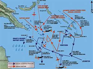Pacific Wrecks Map Depicting The Battle Of The Coral Sea