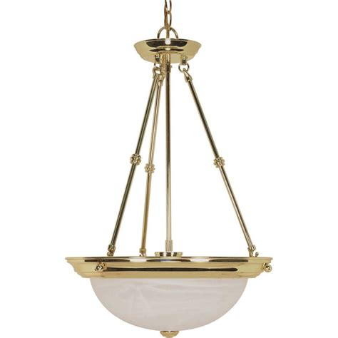 glomar elektra  light polished brass pendant