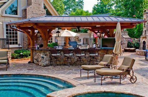 pool and outdoor kitchen designs 31 amazing outdoor kitchen ideas planted well 7523