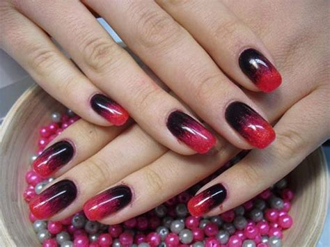 15 Black & Red Gel Nail Art Designs & Ideas 2016