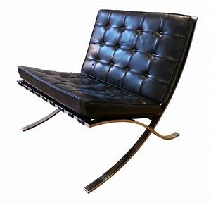 Fauteuil Mies Van Der Rohe : fauteuil barcelona noir ludwig mies van der rohe ann es 70 design market ~ Melissatoandfro.com Idées de Décoration