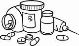Medicine Clipart Coloring Bottle Drugs Pages Prescription Drawing Collection Vector Cliparts Student Clip Awesome Clipartmag Library Sweden Meds Printable Getdrawings sketch template