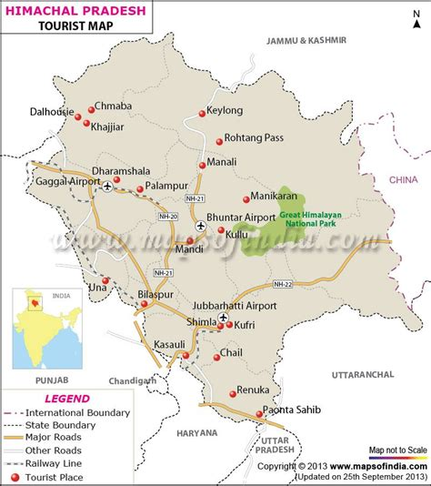 travel map  himachal pradesh india himanchal pradesh