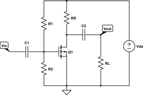 Circuit Analysis Mosfet Common Source Amplifier Output