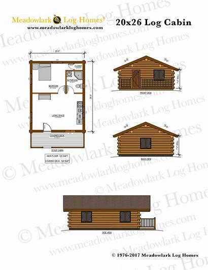 Cabin Log 20x26 Plans Cabins Homes Plan