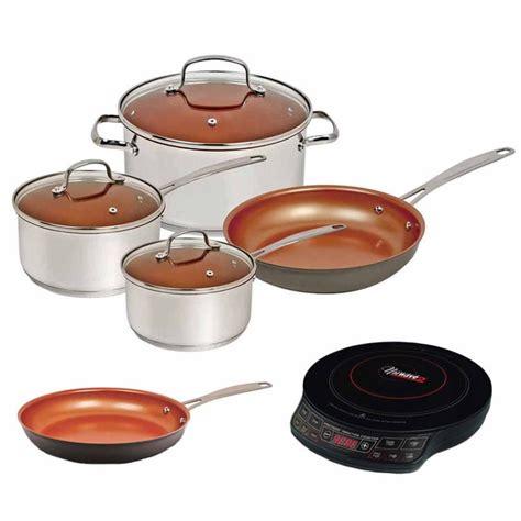 shop nuwave duralon ceramic  stick  piece cookware set