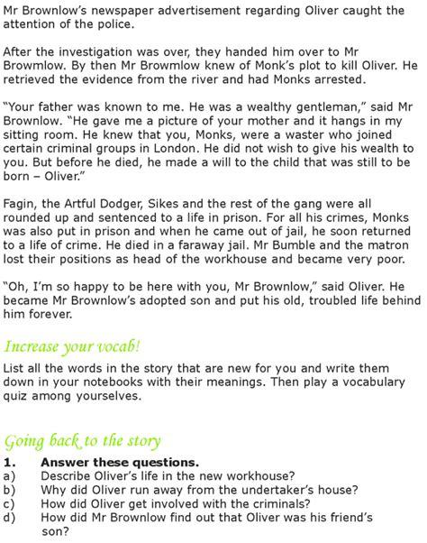 grade 7 reading lesson 15 classics oliver twist 7