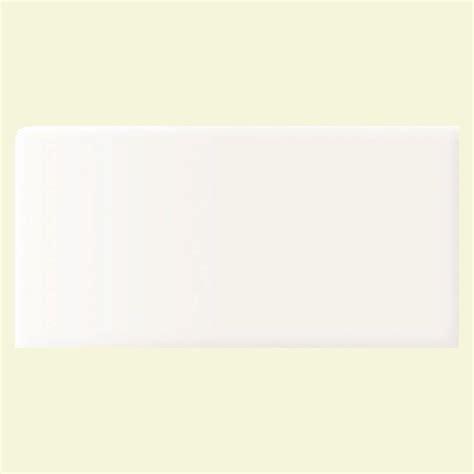 Daltile Arctic White Subway Tile Bullnose by Splashback Tile White 3 In X 6 In X 8 Mm
