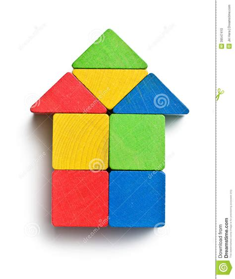 house made of blocks house made from wooden toy blocks stock photo image 39547410