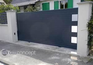 Portail 3 Metres : portail coulissant 3 m tres neuville sur saone acces ~ Premium-room.com Idées de Décoration