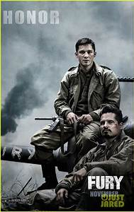 Brad Pitt Gets All the Glory in New 'Fury' Banner Posters ...
