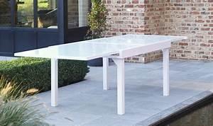 Table De Jardin Blanche : salon contemporain modulo blanc anis 6 personnes en aluminium avec rallonges wilsa ~ Teatrodelosmanantiales.com Idées de Décoration
