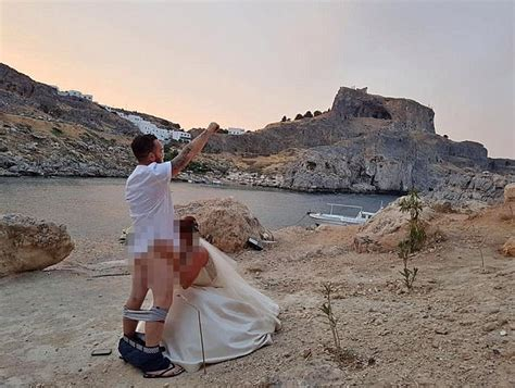 British couple's 'sex act' photo sparks Rhodes wedding ban | Daily Mail Online