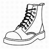 Boots Coloring Timberland Coloringbay sketch template