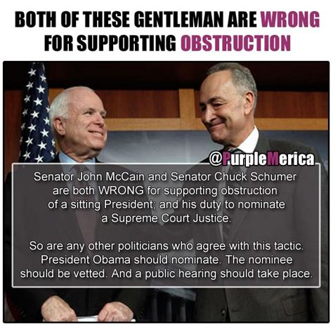 Chuck Schumer Memes - scotus john mccain chuck schumer obstruction both senators