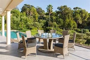 Mobilier De Jardin Hesperide : salon jardin table ronde ensemble mobilier de jardin ~ Dailycaller-alerts.com Idées de Décoration
