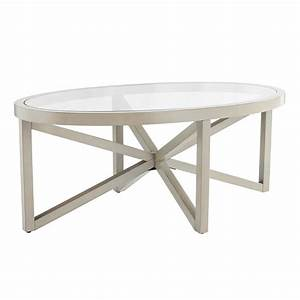 southern enterprises brentwick oval glass top coffee table With gray oval coffee table