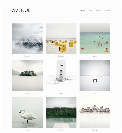 squarespace avenue template index page square help