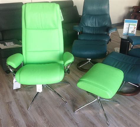 stressless summer green leather by ekornes