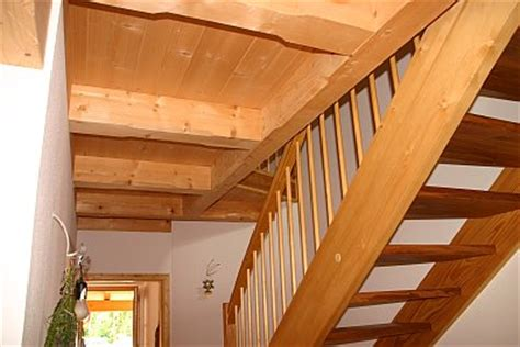 Holzbalkendecke Garage by Holzhausbau Fotos
