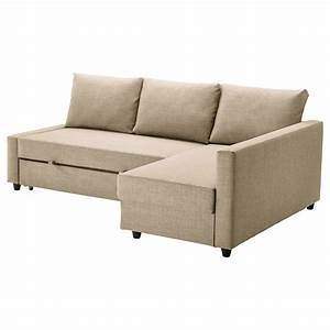 Friheten corner sofa bed with storage skiftebo beige ikea for Sofa beds ikea