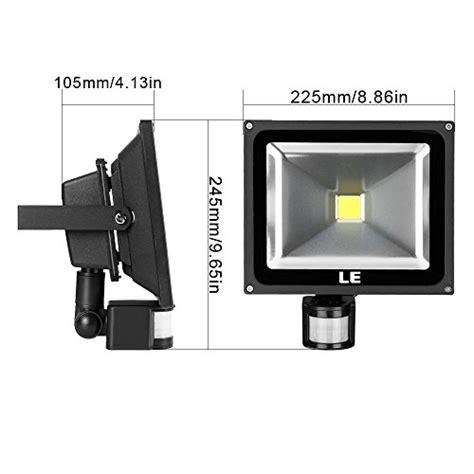 le 30w motion sensor led flood light waterproof daylight