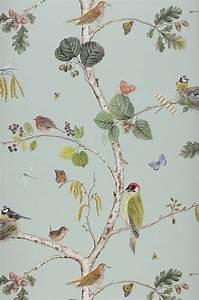 Papier Peint Papillon Oiseau : papier peint fleurs oiseaux ~ Zukunftsfamilie.com Idées de Décoration