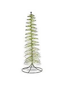 amazon com green 51 quot metal iron wire large green spiral christmas tree statue decor home kitchen