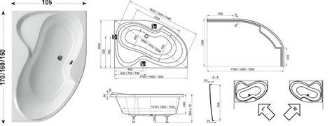 Raumspar Badewanne 120 by Raumspar Badewanne Mit Sch 252 Rze 160 X 105 Cm Und Duschbereich