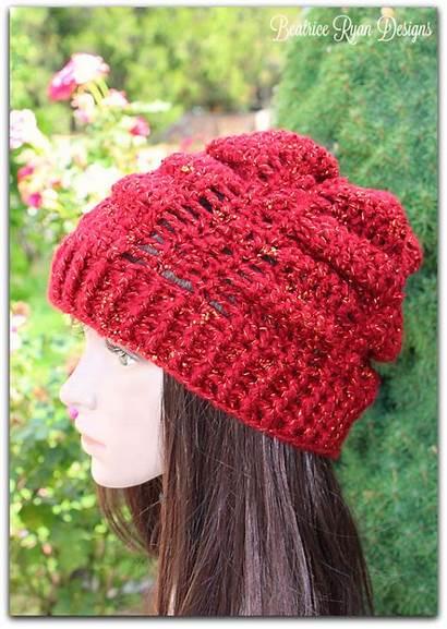 Crochet Slouchy Hat September Jewel Pattern Skein