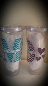 chevron monogrammed tumblers by eventuallycottage on etsy With vinyl letters for tumblers
