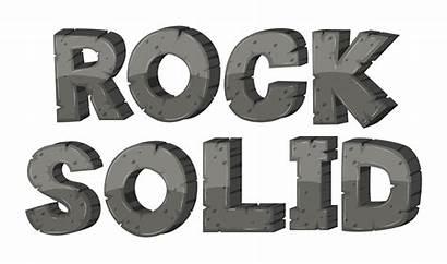 Solid Rock Font Vector Illustration Alphabet Word