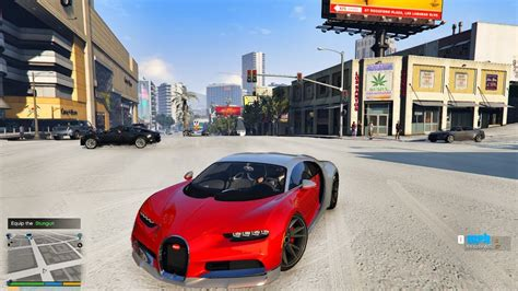 In gta v scuba gear is not an item that you can carry around, to get it you need to jump out of either the zodiak boat (dinghy) or the submarine. GTA 5-SNOW DAYS WITH BUGATTI CHIRON,STORY MODE DRIVING,4K GRAPHICS - YouTube