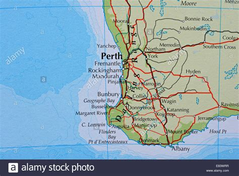 map  perth australia stock photo  alamy