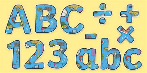 Science Themed Display Letters And Numbers Pack
