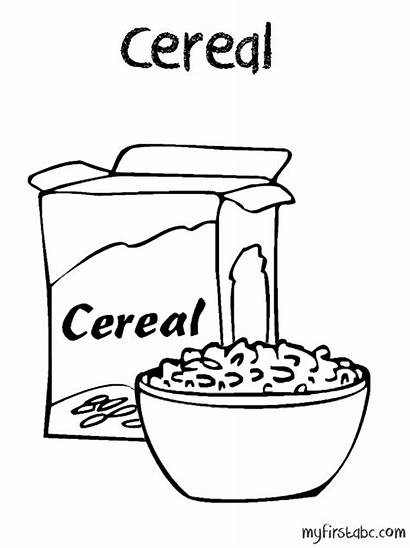 Cereal Coloring Pages Drawing Clipart Box Printable