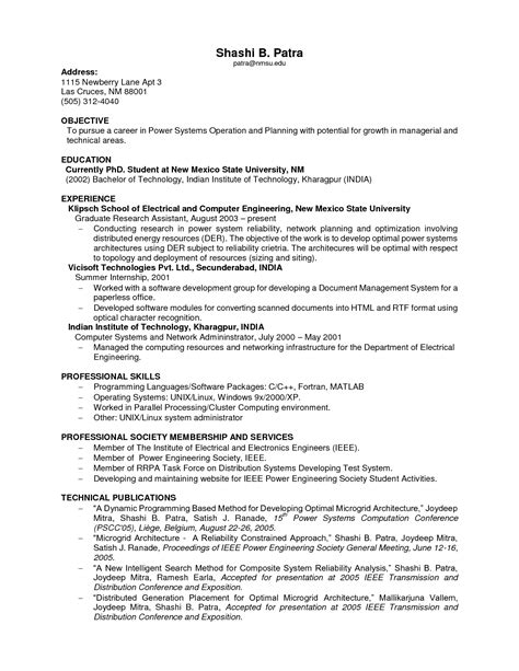 college graduate resume template resume objectives for