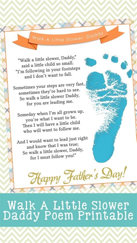 walk   slower daddy fathers day printable