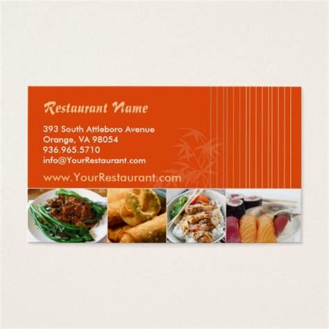 Carte De Visite Restaurant Asiatique by 204 Best Restaurant Business Cards Images On
