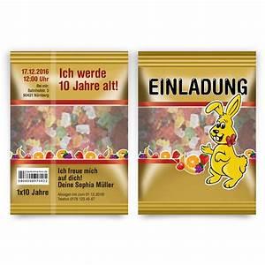 Einladung Kindergeburtstag Gummibärchen Tüte Motiv